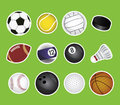 Sport balls vector set of Royalty Free Stock Photos