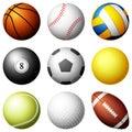 Sport balls Royalty Free Stock Photo