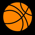 Sport, Basket Ball at Black Background Royalty Free Stock Photo