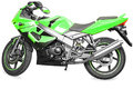 Sport bike green color stunt on white background Royalty Free Stock Photography