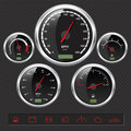 Sport Car Dials Royalty Free Stock Photos
