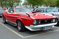 Sport car ford mustang mach i berlin may front view oldtimer tage berlin brandenburg may berlin germany Royalty Free Stock Photo