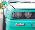 Sport car headlight Royalty Free Stock Photo