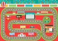 Sport car racing track play