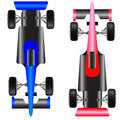 Sport car scheme top view. Stock Images