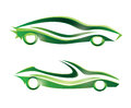 Sport car stylized icon icons set Royalty Free Stock Photo