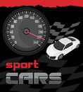 Sport cars icon for design illustration Royalty Free Stock Photography