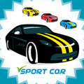 Sport cars symbol icons illustration sign Royalty Free Stock Photography