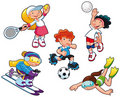 Sport characters. Royalty Free Stock Photos