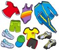 Sport clothes collection Royalty Free Stock Photography