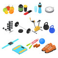 Sport Color Icons Set Isometric View. Vector