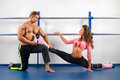 Sport couple. Royalty Free Stock Image