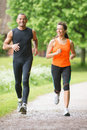 Sport couple running in park Royalty Free Stock Photography