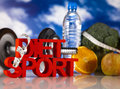 Sport diet healthy lifestyle concept and fitness Stock Photography