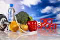 Sport diet healthy lifestyle concept and fitness Stock Image