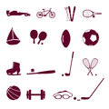 Sport equipment icon set eps modern Stock Images