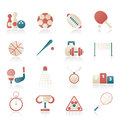 Sport equipment icons Royalty Free Stock Photo