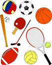 Sport equipment - vector Royalty Free Stock Photos
