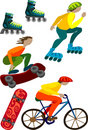 Sport and equipment vector colorful illustration Royalty Free Stock Photo
