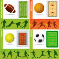 Sport field, ball and design Royalty Free Stock Images
