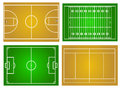 Sport fields vector illustration background Stock Images