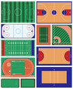 Sport fields vector set of various Royalty Free Stock Photo