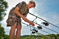 Sport fishing Stock Images