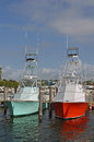 Sport Fishing Boats Stock Images