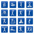 Sport_fitness_icons Royalty Free Stock Image
