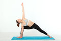 Sport. Fitness Yoga woman. Beautiful middle-aged woman doing yoga poses. Concept people are workout in yoga, training in