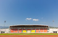 Sport grandstand football in th anniversary stadium at chiang mai thailand Royalty Free Stock Image