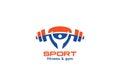 Sport Gym Fitness Logo design vector triangle