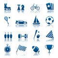 Sport & hobby icon set Stock Images