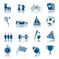 Sport & hobby icon set
