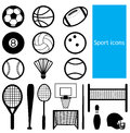Sport icon black and white of Royalty Free Stock Image