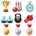 Sport icon set of icons Royalty Free Stock Image