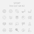 Sport icon set Royalty Free Stock Photo