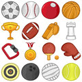 Sport icons illustration of a set Stock Photos