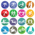Sport icons set Royalty Free Stock Photo