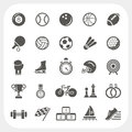 Sport icons set eps don t use transparency Royalty Free Stock Photos