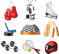 Sport icons set shop detailed Royalty Free Stock Photography