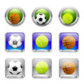 Sport icons vector app buttons set Royalty Free Stock Photo