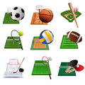 Sport icons a vector illustration of icon sets Royalty Free Stock Image
