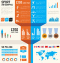 Sport  infographic set Royalty Free Stock Image
