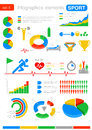 Sport infographics statistics and analytics for b business finance Stock Photography