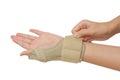 Sport Injury, Wrist With Brace...