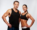 Sport man and woman Royalty Free Stock Image