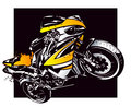 Sport motorbike vector illustration Stock Photo