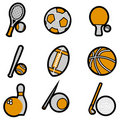 Sport object icon set vector Stock Images