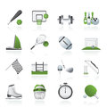 Sport objects icons Royalty Free Stock Image